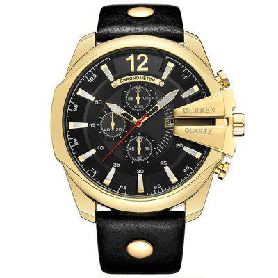 Gearbest CURREN Top Luxury Popular Brand Quartz Gold Watches Men - GOLD