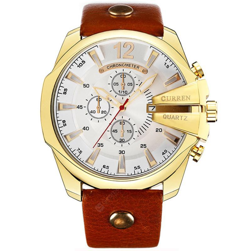 CURREN Top Luxury Popular Brand Quartz Gold Watches Men