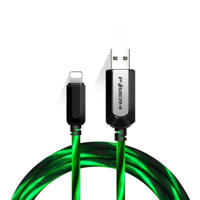 Power4 LED Light Visible 8 Pin  USB Flowing  Round Cable