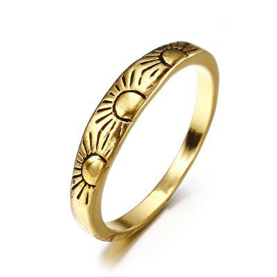 New Lady 14K Golden Fashion Carved Flower Engagement Ring