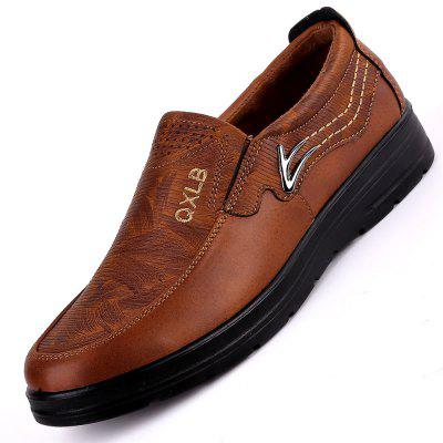 Fashion Casual Soft Breathable Men Business Breathable Driving Flat Oxford Shoes