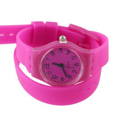 Candy Color Silicone Children Watch Fashion Casual