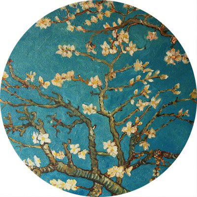 Non Slip Rubber Round Peach Flower Anti-Water Gaming Mouse Pad