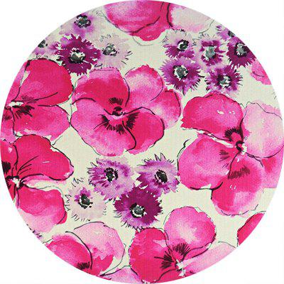 Non Slip Rubber Round Flowers Anti-Water Gaming Mouse Pad