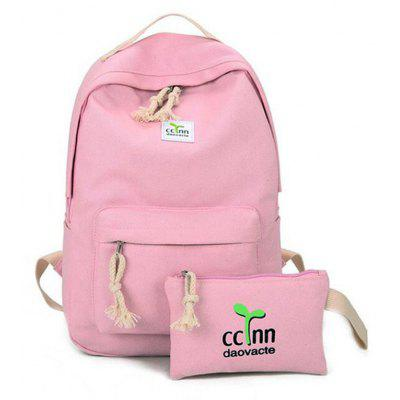 Kid's Simple Style Backpack School Bags Set