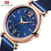 MINI FOCUS Women Brand Luxury Stainless Steel Rose Gold Ladies Wrist Watch - BLUE