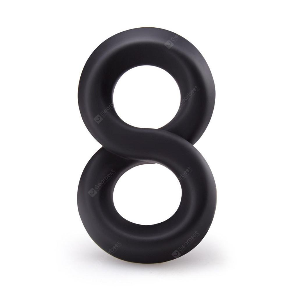 LOVETOY Men Silicone Time Delay Erection Cock Adult Double Penis Rings