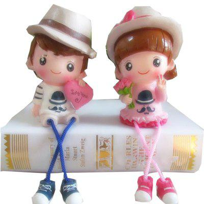 Cute Couple Dolls en un par