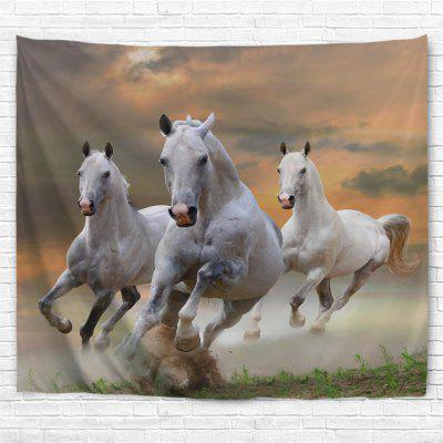 Sunset White Horse 3D Printing Home Wall Hanging Tapestry for Decoration
