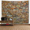 Natural Brick 3D Printing Home Wall Hanging Tapestry for Decoration - MULTI-A