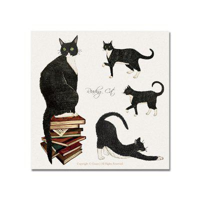 DYC The Cat Standing on The Book Print Art