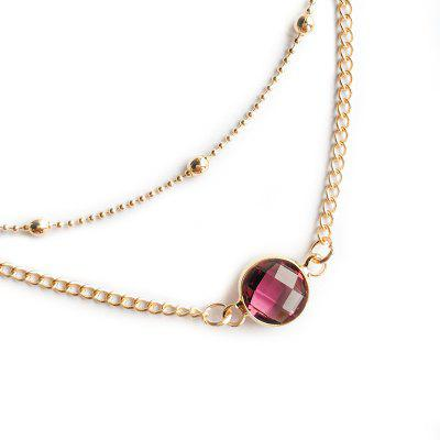 Natural Stone Glass Inlaid with Fashion Necklace