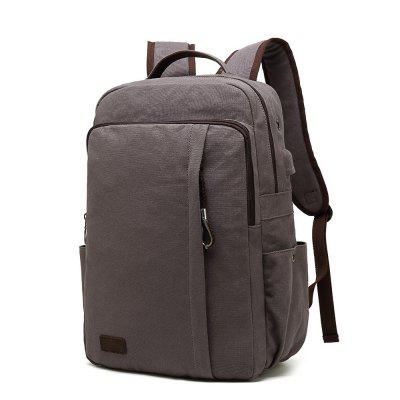 Durable Unisex Canvas Laptop Backpack for School and Business with USB Charge