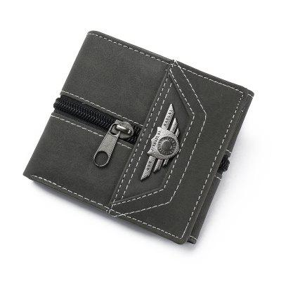 JINBAOLAI Men Coin Bag Personality Wallet
