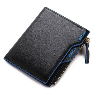 JINBAOLAI Fashion Men Short Wallet