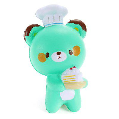 Jumbo Squishy Chef Bear Slow Rising Collection Decoration Toy