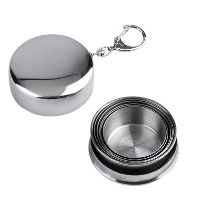 Stainless Steel Outdoor Telescopic Collapsible Folding Cup