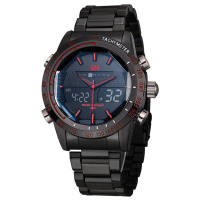 ASJ Top Brand Luxury Quartz LED Digital Date Alarm Chronograph Watches