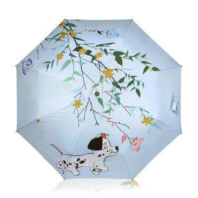 Cute Dog Anti UV Umbrella Folding Umbrella Outdoor Sunshade