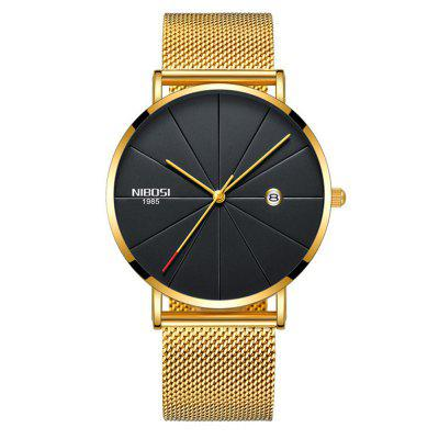 NIBOSI Unisex Luxury Famous Top Brand Dress Fashion Watch Quartz Wristwatches