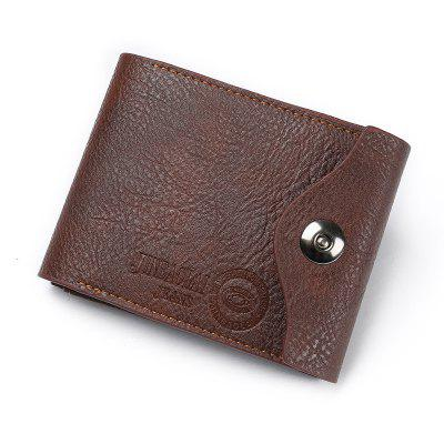 JINBAOLAI Multi-function Magnetic Tri-fold Men Wallet