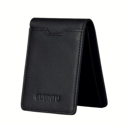GUBINTU Genuine Leather Male Purse Card Holder Fashion Man Bifold Wallet