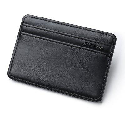JINBAOLAI Vintage Leather Magic Wallet Clip bolsillo Mini monedero