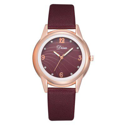 Disu DS138 Женщины Creative Dial PU Watch