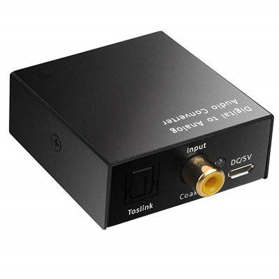 Digital Optical Coax Coaxial Toslink To Analog Audio Converter Cable Adapter
