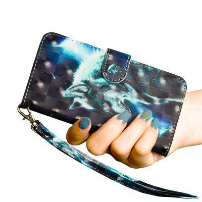 3D-Color-Malerei für Samsung Galaxy S8 Fall Flip Wallet Cover