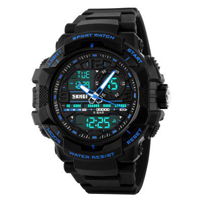 SKMEI Popular Men Quartz Digital Multifunction Waterproof Outdoor Wrist Watch