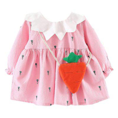 Baby Long Sleeved Dress Cartoon Carrot Design