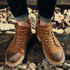 ZEACAVA Men's Fashion High Shoes Tooling Boots - DEEP BROWN