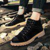 ZEACAVA Men's Fashion High Shoes Tooling Boots - BLACK
