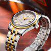 CADISEN C8089M Stainless Steel Imported Mechanical Movement Waterproof Men Watch - GOLD