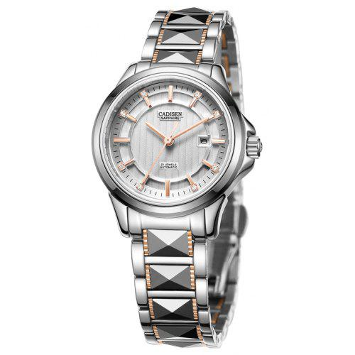 CADISEN C8090L Hollow Mechanical Stainless Steel Waterproof Lady's Wrist Watch
