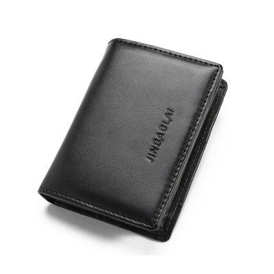JINBAOLAI Fashion PU Leather Men Business Card Holder Wallet