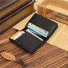 JINBAOLAI Fashion PU Leather Men Business Card Holder Wallet - NEGRO