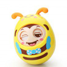 Cute Roly-poly Tumbler Baby Bell Nodding Educational Toy with Eye Blinking