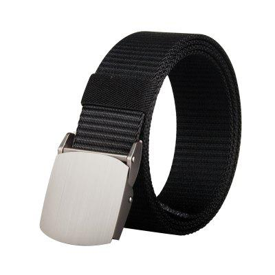 COWATHER Joker Simple Nylon Fashion Casual Silver Buckle Canvas Belt