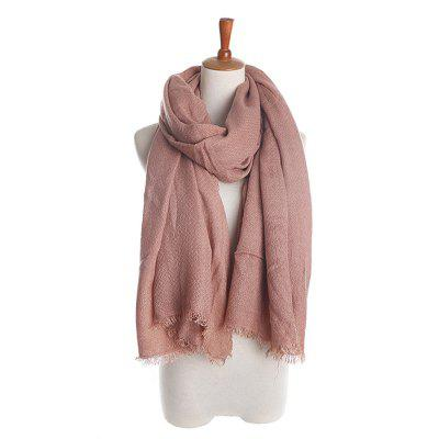 Solid Color Soft Wool Cashmere Scarf Pashmina for Women Gift