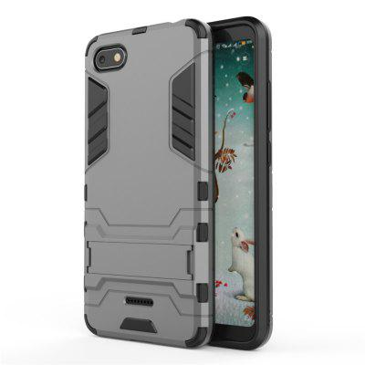 Case for Redmi 6A Shockproof Solid Hard PC with Stand Back Cover