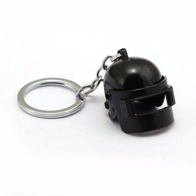 Black Model Pendant Keychain Level 3 Helmet Holiday Gift