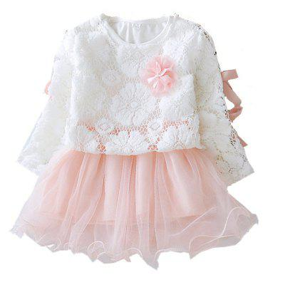 Baby Girl Long Sleeved Dress Infant Yarn Skirt Set