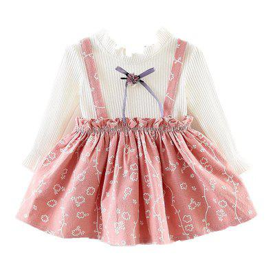 Baby Long Sleeved Dress Lovely Flower Pattern