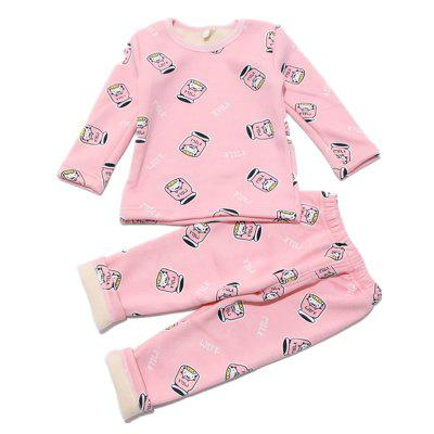 Baby Pants 2 Piece Bottle Pattern Long Sleeved Home Clothes