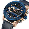 NAVIFORCE Luxusmarke Herren Analog Digital Leder Sportuhren - BLAU