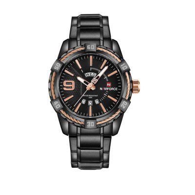 NAVIFORCE Fashion Casual Brand Waterproof Quartz Men Military Stainless Watch