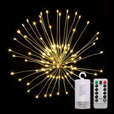 ZDM Lámpara Blanca Caliente Impermeable 60 Branch120 LEDs Starburst Luces LED Fuegos Artificiales