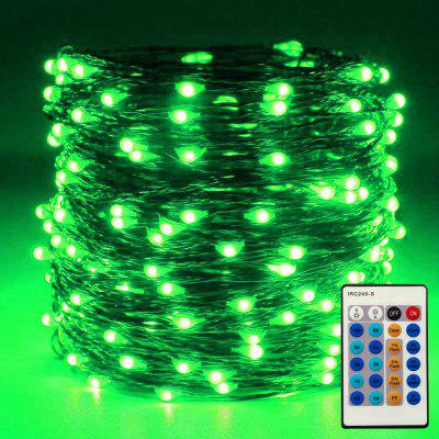 ZDM 10M/33ft 100PCS Dimmable with Remote Control Waterproof Silver Thread LED